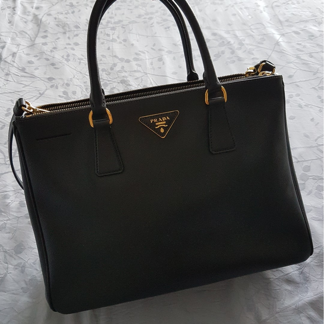 71a10d1865b5 ... coupon prada saffiano leather double zip medium tote bag bn2274 luxury  bags wallets handbags on carousell