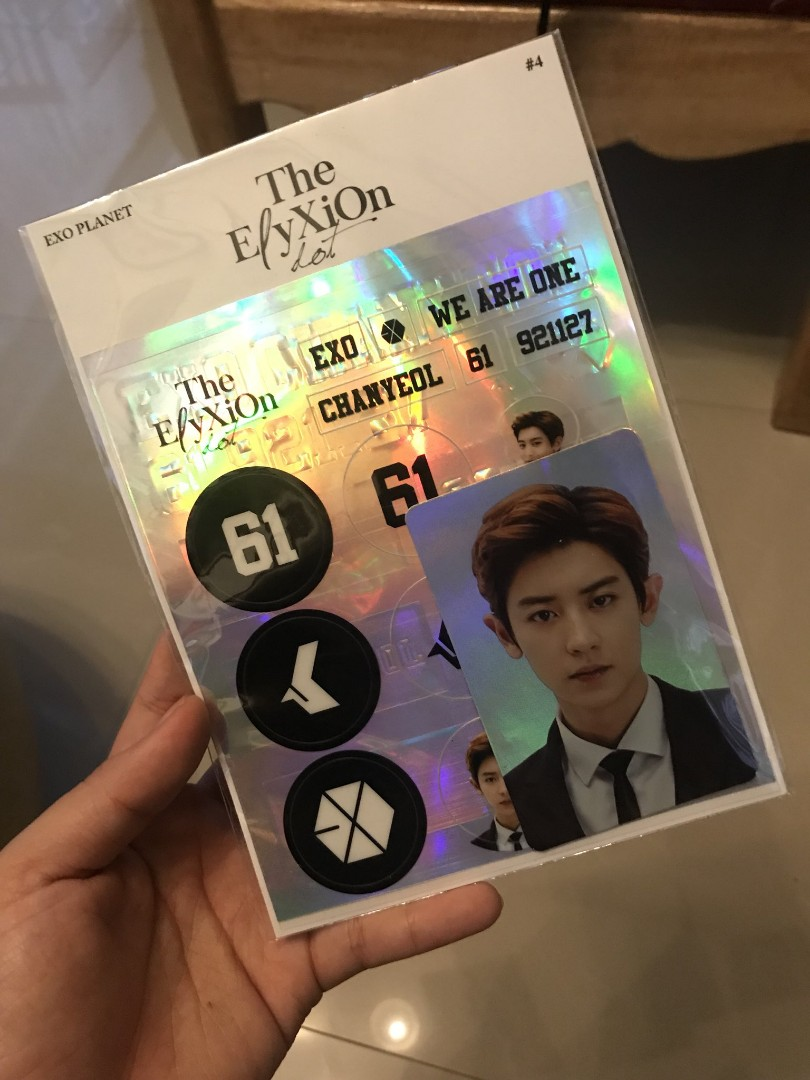 Wtb Chanyeol Deco Sticker Kit Elyxion Goods K Wave Di Carousell