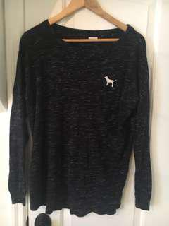 Pink Victoria's Secret dark navy blue long sleeve