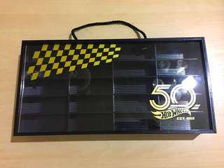 Hot Wheels 50th Anniversary Collector Display Storage Box Case - Black