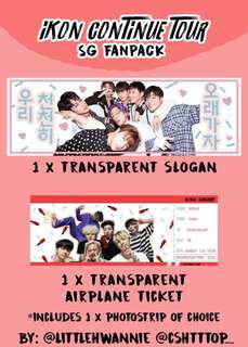 UPDATED SLOGAN FAN PACK iKON CONTINUE TOUR