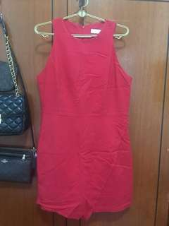 LAB Love and Bravery Red overlapping Dress XL UK12 UK14