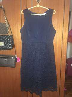 LAB Love and Bravery Navy Blue Dress XL UK12 UK14