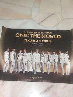 Wanna one world tour poster