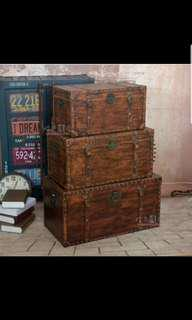 Pre order wooden or leather chest box