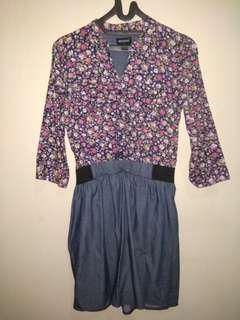 [T] Nevada Set Blus Bunga dan Rok / Kemeja Bunga dan Rok Dress Set
