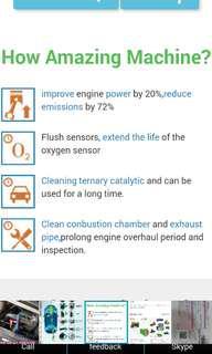 Cuci Karbon Motosikal GAS HIDROGEN