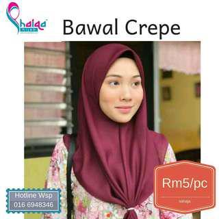 Bawal Crepe (Shaiqa Hijab)