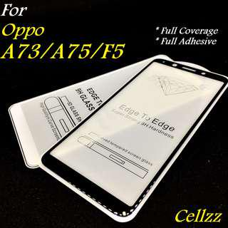 Oppo A73/A75/F5 Full Adhesive Tempered Glass Protector