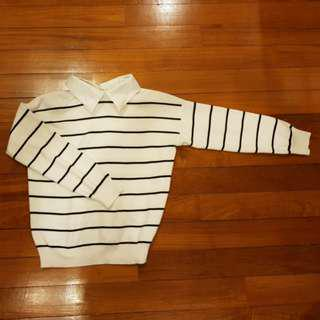 Long Sleeve Top with Collar