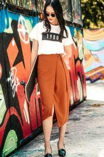 🚚 Fashmob Veryk D-ring Skirt in Terra cotta