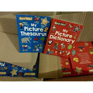 🚚 My Picture Thesaurus and My Picture Dictionary Collection Set Gift ( All Paperback Books and Brand New )