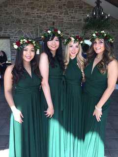 Green infinity dress