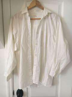Aritzia oversized white button up