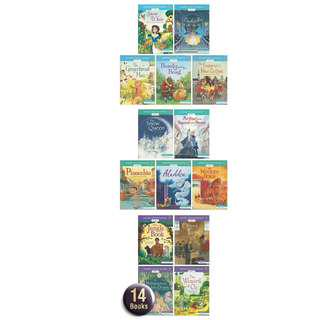 🚚 Usborne English Reader Level 1,2 and 3 Collection Set Gift - 14 Books ( All Paperback Books and Brand New )