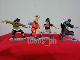 Anime Naruto (style 1) set of 4