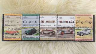 Leaders of the world/ Auto 100 car stamp set