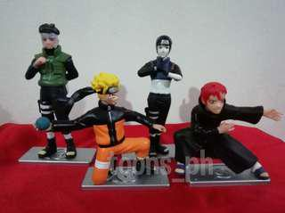 Anime Naruto (style 4) set of 4