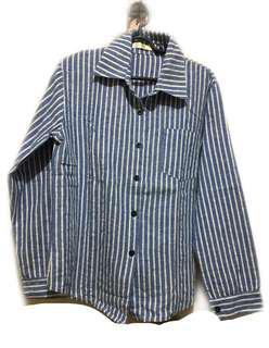 Kemeja stripe pocket