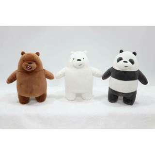We Bare Bears cute plush set of 3
