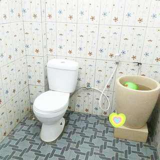 Bak mandi minimalis marmer glossy