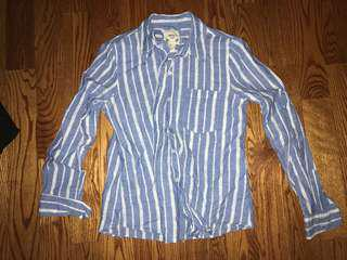 Forever 21- blue and white striped long sleeve