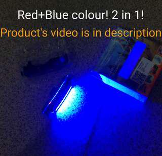 Safety Lights LED with 2in1 colours (Red + Blue)