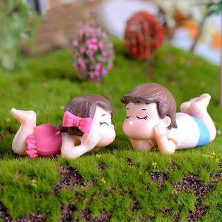Miniature Lying Lover Figurine