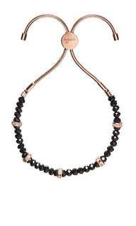 Mimco Dali Bracelet Black Rose Gold $20