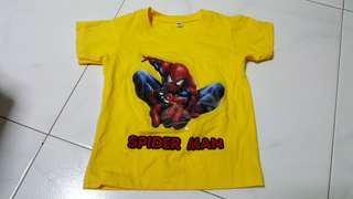 Spider man top with lighting bling bling at center