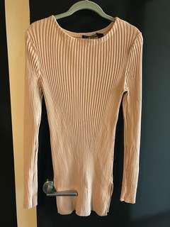 Country road camel knitted long sleeve top