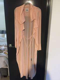 UNIF peach light weight trench