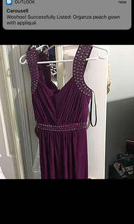 Maroon dress size 6