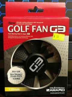 100% Brand New Zaward Golf Fan G3 12cm Computer Case Fan 全新12cm電腦機箱散熱風扇