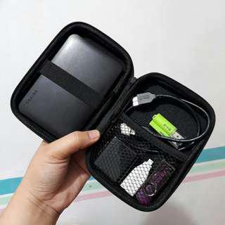 Organizer Pouch for External Hard Drive/ Earphone/ Accessories Hard Case