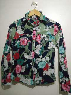 Floral Button Down Polo Longsleeves