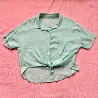 Hawaiian Polo Crop Top