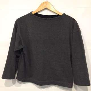REPRICED! Uniqlo 3/4 Grey Top