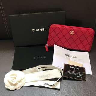 Authentic Chanel Red Long Wallet