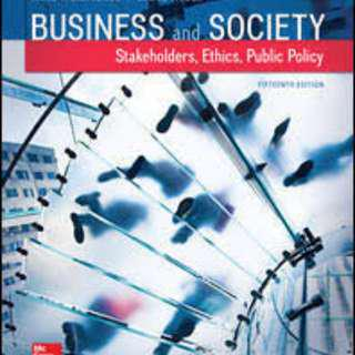 Business and Society: Stakeholders, Ethics, Public Policy, 15th Edition [Rent]