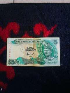 Duit RM 5 Lama