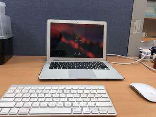 Mac Air 2015 ealry + mouse +keyboard(bluetooth)