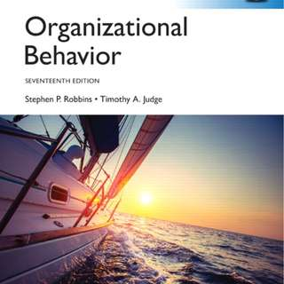 Organizational Behavior. Pearson Education Limited. 17th edition [Rent]
