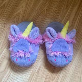 unicorn home slippers