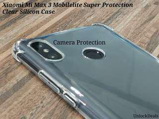🚚 Xiaomi Mi Max 3 Anti Dust and Stickiness Clear Silicon Case