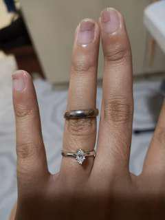 Silver plain ring