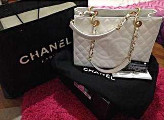 Chanel white gst ghw
