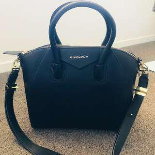 Givenchy Antigona Black Bag Gold  Hardware