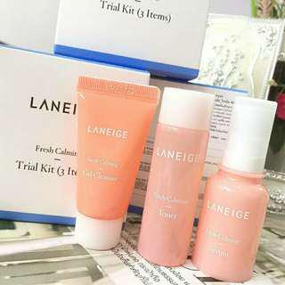 Laneige fresh calming trial kit 3 items