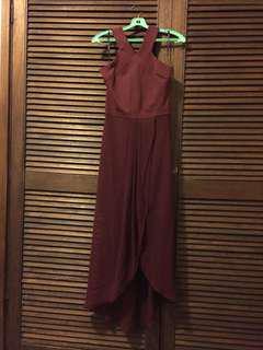 BNWT Burgundy Evening Dress size 10